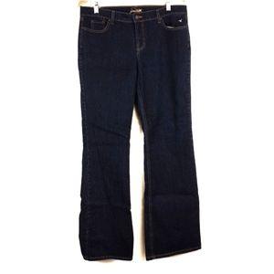 Grane Dark Wash Jeans Gold Stitching 15 Tall